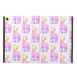 Capa Para iPad Air Caixa cor-de-rosa do ar do iPad dos girafas sem