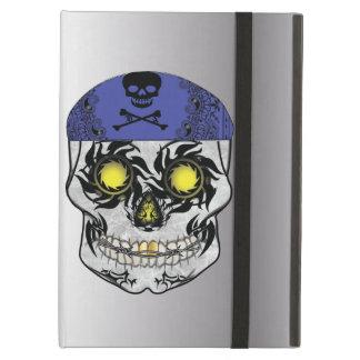 Capa Para iPad Air Caixa de prata do ar de Ipad do crânio dos doces