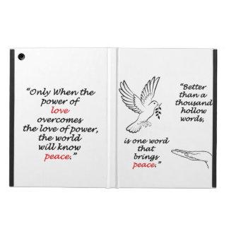 Capa Para iPad Air Caixa do ar do iPad do pássaro da paz sem