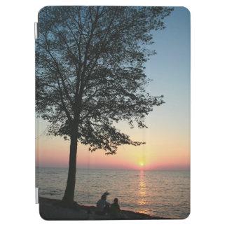 Capa Para iPad Air Caixa romântica do ar do iPad da praia do por do