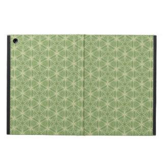 Capa Para iPad Air Caixa verde do design geométrico da folha da hera
