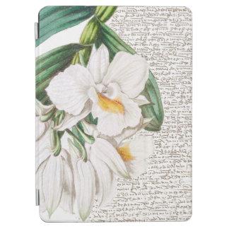 Capa Para iPad Air Caligrafia branca das orquídeas