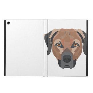 Capa Para iPad Air Cão Brown Labrador da ilustração