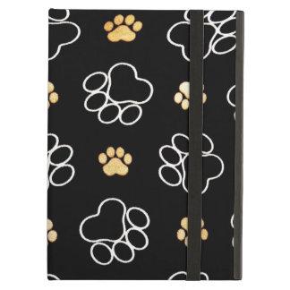 Capa Para iPad Air Cão engraçado Pawprints no preto, caixa do ar do