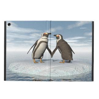 Capa Para iPad Air Casal dos pinguins