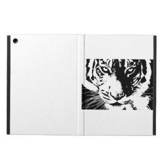Capa Para iPad Air Caso com um tigre preto e branco do impressão