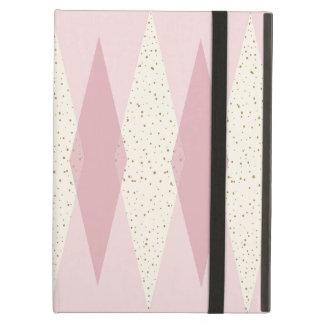 Capa Para iPad Air Caso cor-de-rosa moderno do iPad de Argyle do meio
