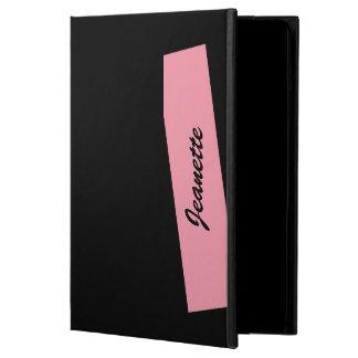 Capa Para iPad Air Caso do iPad do iCase de Powis, preto cor-de-rosa