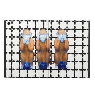Capa Para iPad Air caso sábio de Ipad de três macacos