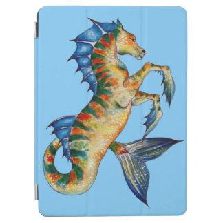Capa Para iPad Air Cavalo marinho no azul