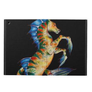 Capa Para iPad Air cavalo marinho no preto