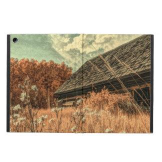Capa Para iPad Air celeiro velho da fazenda do wildflower do campo do