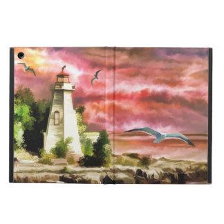 Capa Para iPad Air Cena do farol da costa do oceano, caixa do ar do