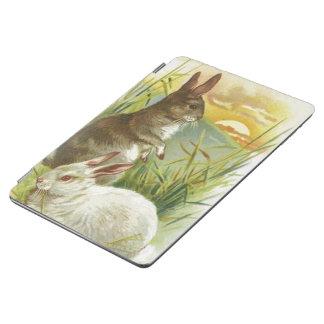 Capa Para iPad Air Coelhinhos da Páscoa no nascer do sol