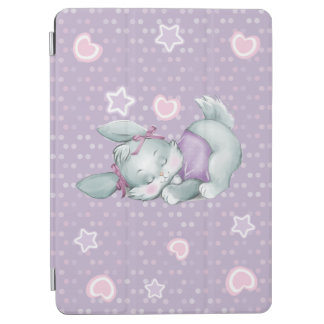 Capa Para iPad Air Coelho adorável do sono no rosa e no roxo