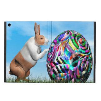 Capa Para iPad Air Coelho que empurra o ovo da páscoa - 3D rendem