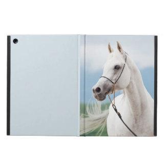 Capa Para iPad Air coleção do cavalo. branco árabe