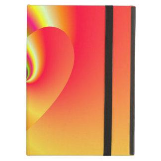 Capa Para iPad Air Coração do amor do redemoinho do arco-íris