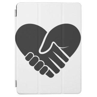 Capa Para iPad Air Coração preto conectado amor