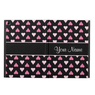 Capa Para iPad Air Corações cor-de-rosa pretos do amor