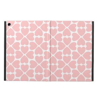 Capa Para iPad Air Corações do trevo da folha do rosa quatro