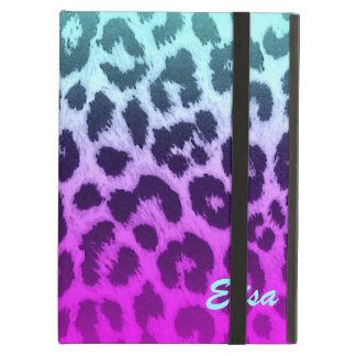 Capa Para iPad Air Costume cor-de-rosa azul do impressão do leopardo