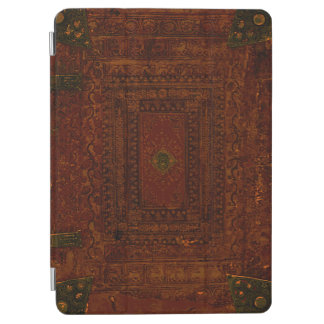 Capa Para iPad Air Couro e bronze gravados velhos