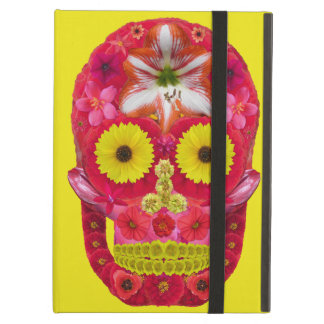 Capa Para iPad Air Crânio 6 da flor