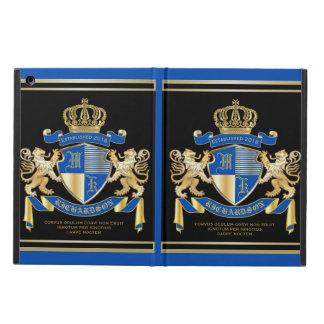 Capa Para iPad Air Criar seu próprio emblema azul do leão do ouro da