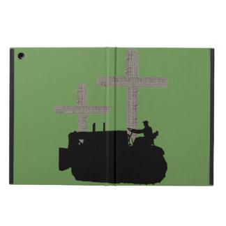 Capa Para iPad Air Cruz cristã do operador da escavadora feita da