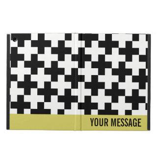 Capa Para iPad Air Cruzes preto e branco ligadas