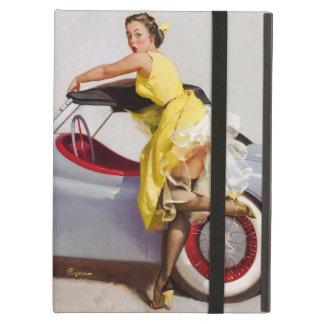 Capa Para iPad Air Cubra acima a menina retro do pinup