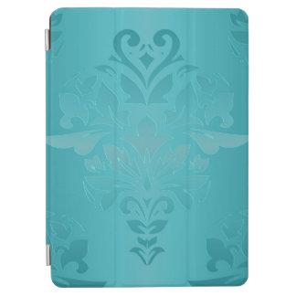 Capa Para iPad Air Damasco do Grunge de turquesa
