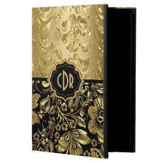 Capa Para iPad Air Damascos brilhantes do ouro no fundo preto