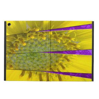 Capa Para iPad Air Design amarelo do painel da flor quatro