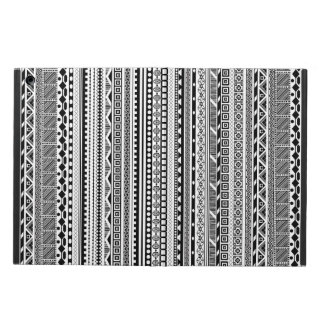 Capa Para iPad Air Design asteca branco preto bonito dos padrões