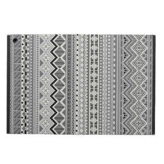 Capa Para iPad Air Design asteca cinzento bonito dos padrões