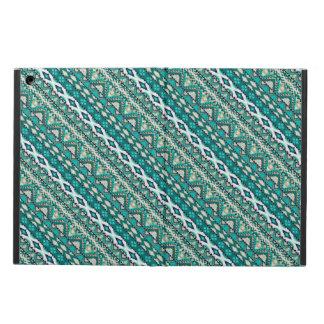 Capa Para iPad Air Design asteca dos padrões do design verde bonito