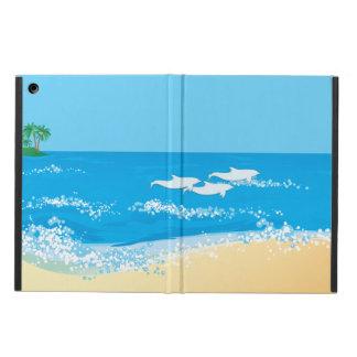 Capa Para iPad Air Design cénico do golfinho da praia tropical