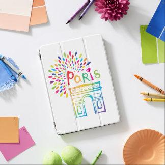 Capa Para iPad Air Design de néon de Paris France | Arco do Triunfo |