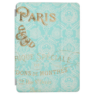 Capa Para iPad Air Design do ouro de Paris do vintage
