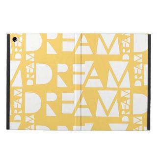 Capa Para iPad Air Design geométrico ideal amarelo do entalhe
