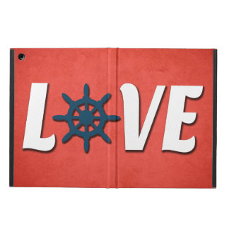 Capa Para iPad Air Design náutico do amor