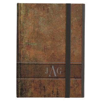 Capa Para iPad Air Design rústico do livro de Brown do Grunge