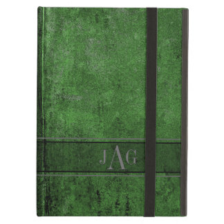 Capa Para iPad Air Design rústico do Livro Verde do Grunge