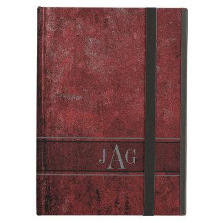 Capa Para iPad Air Design vermelho do livro do Grunge rústico
