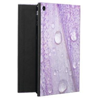 Capa Para iPad Air Design violeta da flor do primavera macro