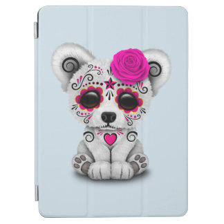 Capa Para iPad Air Dia cor-de-rosa do urso polar do bebê inoperante