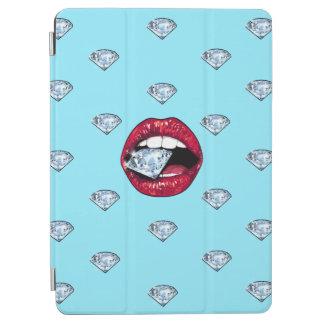 Capa Para iPad Air Diamante chique dos lábios feminino