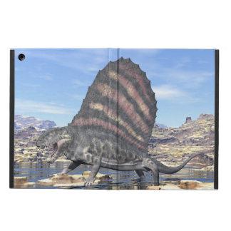Capa Para iPad Air Dimetrodon que está em uma lagoa no deserto